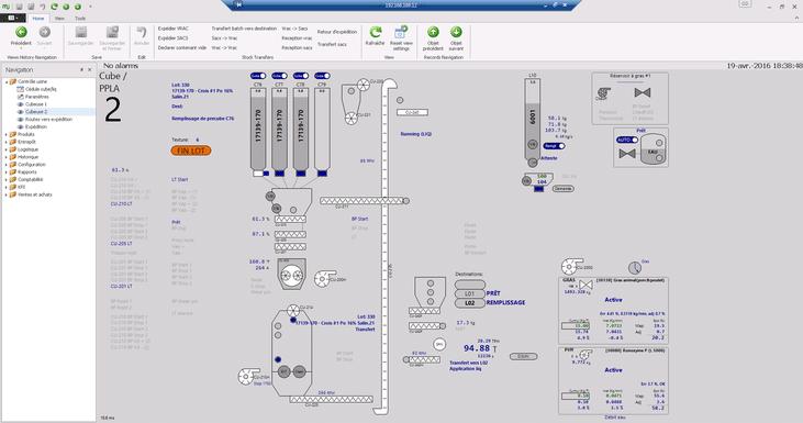 Aperçu d'une page de l'interface visuel